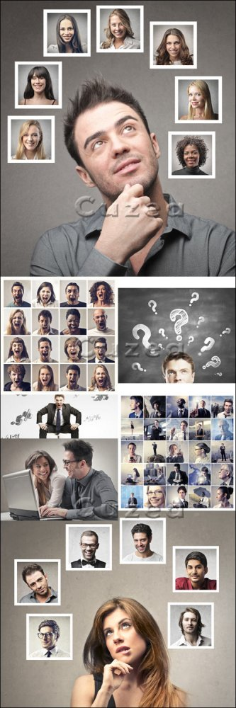 Люди и решения/ People solution - Stock photo