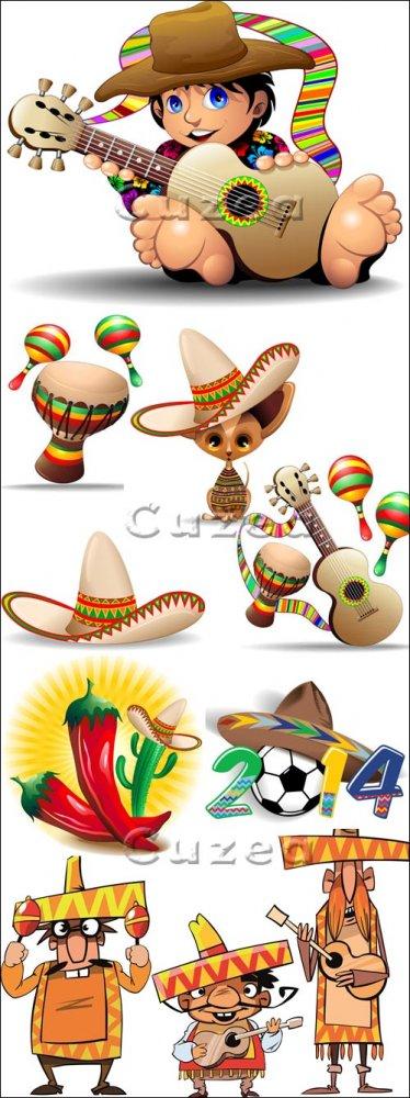 Мексиканские мультяшные персонажи в векторе/ Mexicano Cartoon Characters in ...
