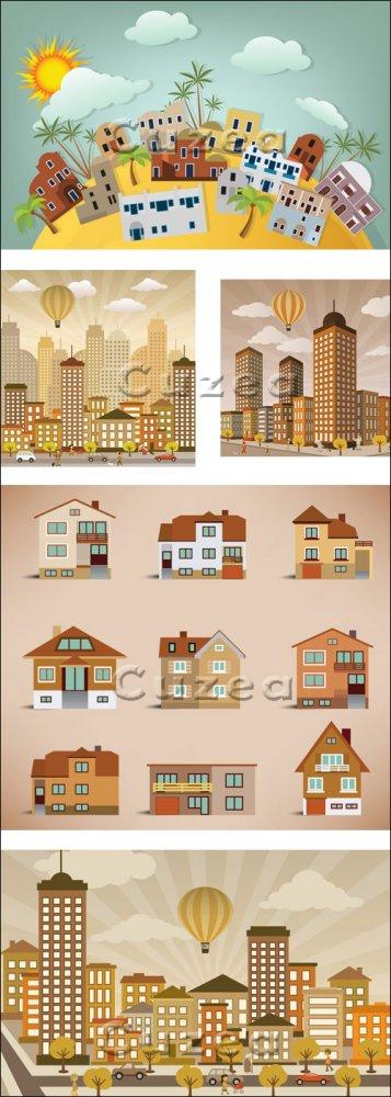 Векторный город/ City carton in vector
