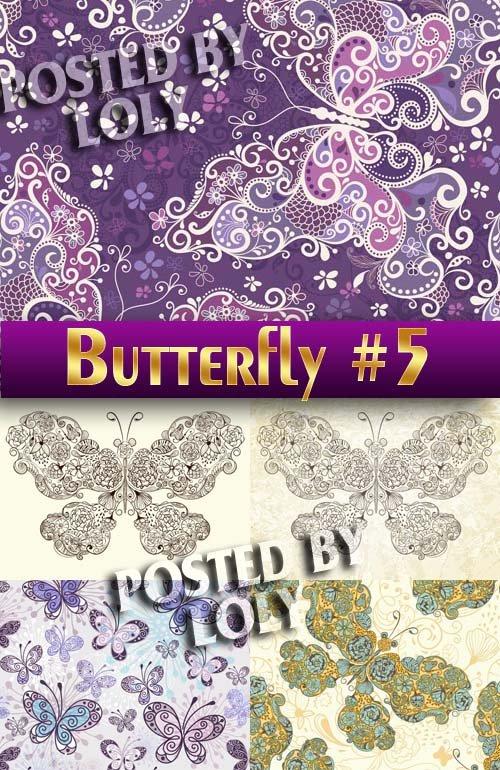 Прекрасные бабочки #5 - Векторный клипарт