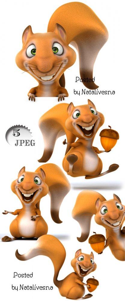 Фото сток - Белка с желудем / Squirrel with an acorn - Stock photo