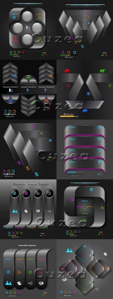 Элементы инфографики, часть 43/ Infographics design template with numeratio ...