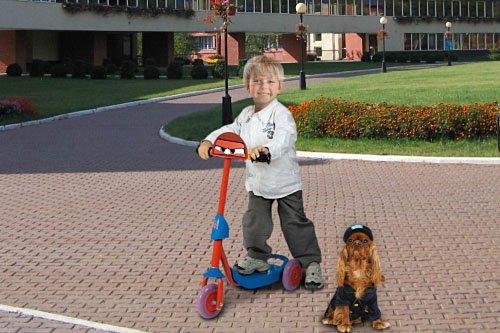 Детский шаблон для фотошопа - Прокачу собачку