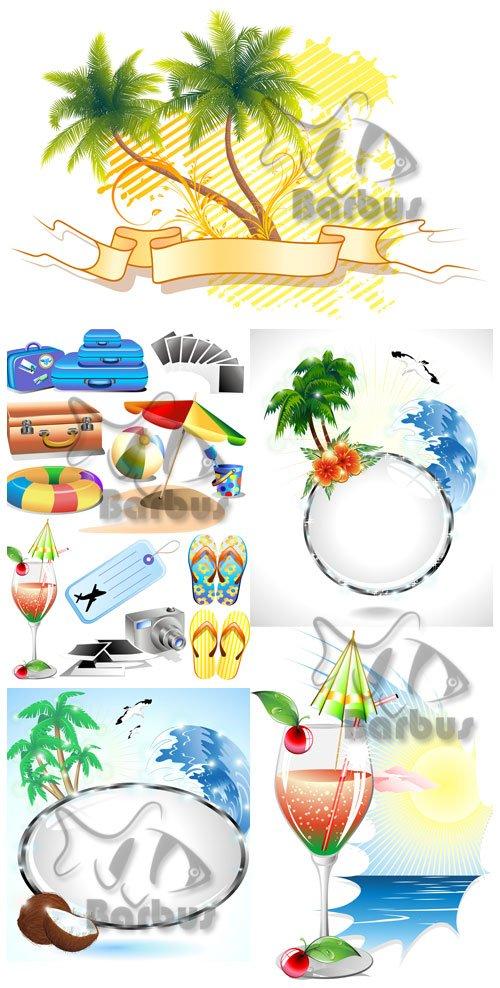 Summer banners and beach elements / Летние баннеры и пляжные элементы