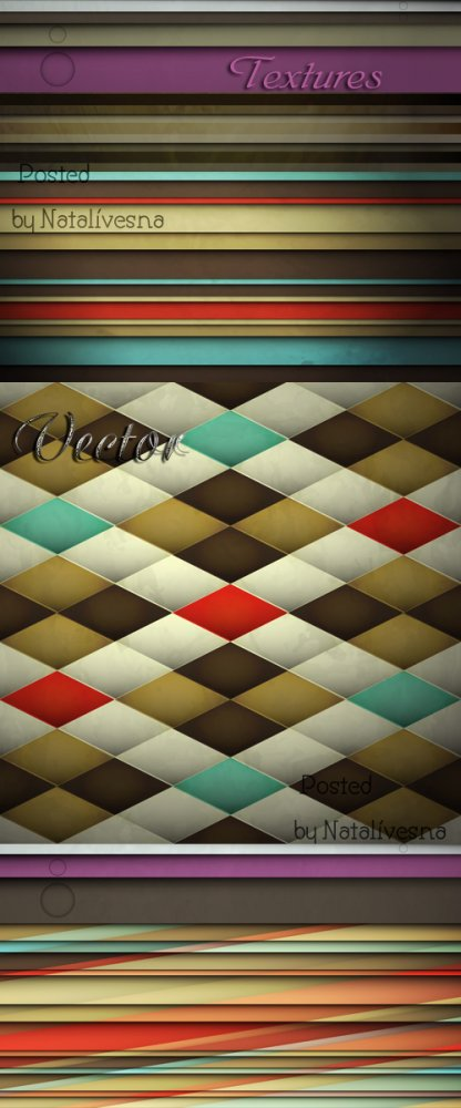 Текстуры с полосками в Векторе / Textures with strips in Vector
