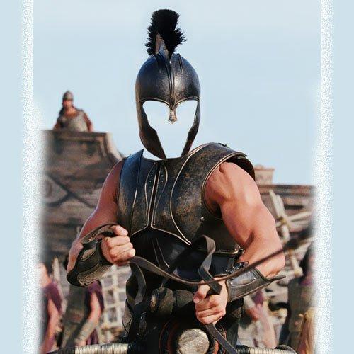 PSD шаблон - Храбрый воин на колеснице