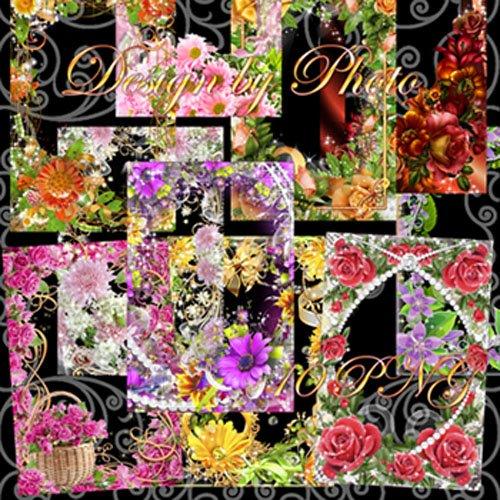 Набор рамок для фото - Люблю цветы