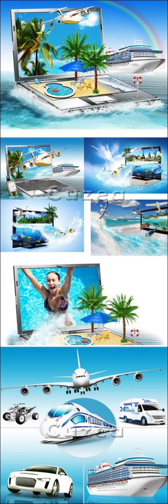Летнее путешествие к морю/ Summer travel on the sea - Stock photo