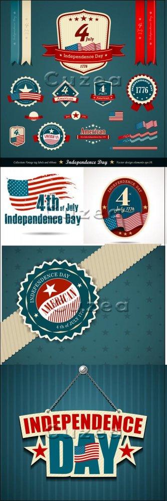 День Независимости США/ часть 3 / Independent day of USA - vector stock, pa ...