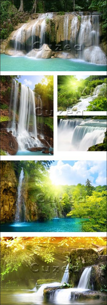 Природные водопады/ Nature waterfall - Stock photo