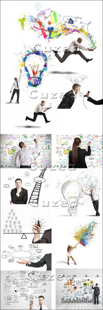 Креативная бизнес идея/ Creative business idea - stock photo