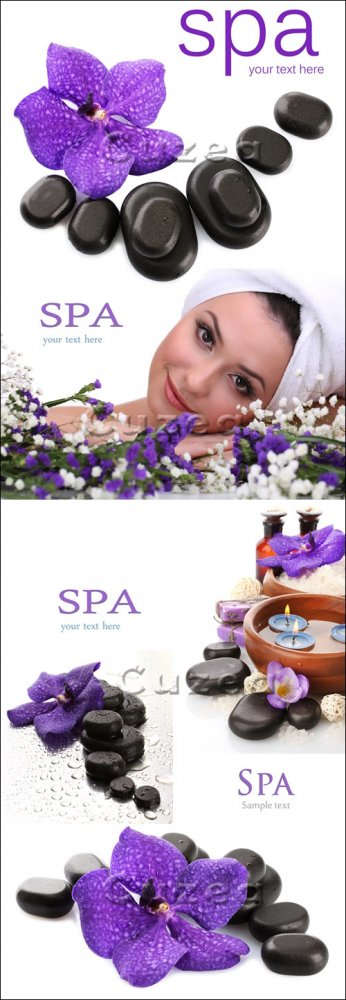 Клипарт на Спа тему/ Spa accesories for woman - Stock photo