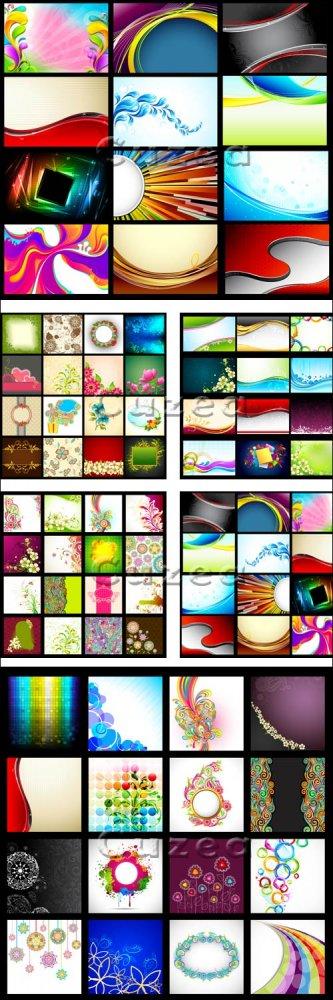 Цветные абстрактные фоны в векторе/ Color and abstract vector backgrounds