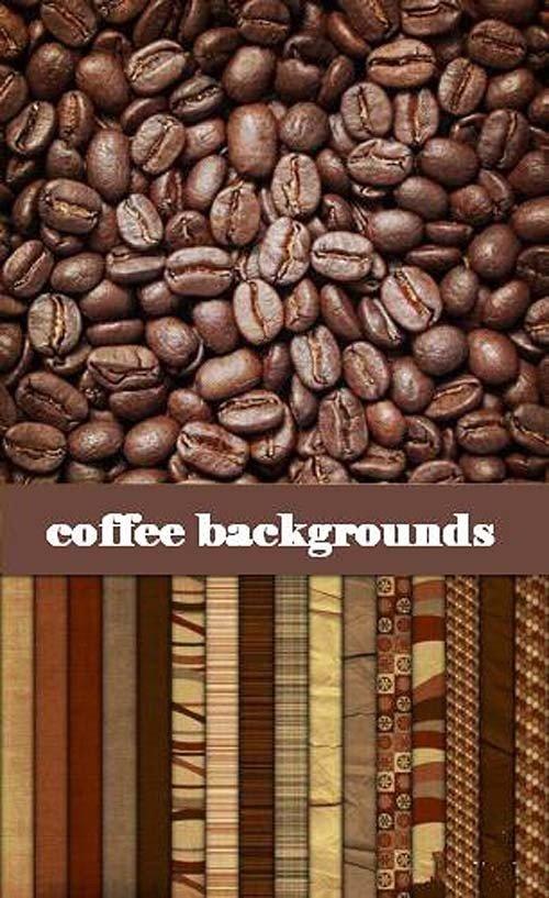 Коллекция кофейных фонов