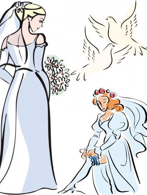 Векторный сток: свадьба, венчание, помолвка