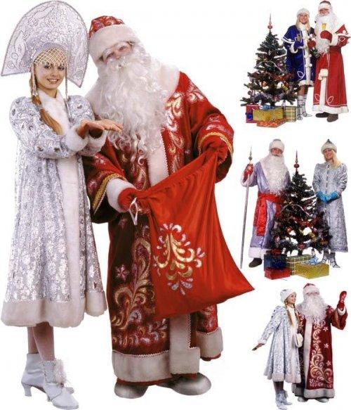Новогодний фотосток:  русские Дед Мороз и Снегурочка
