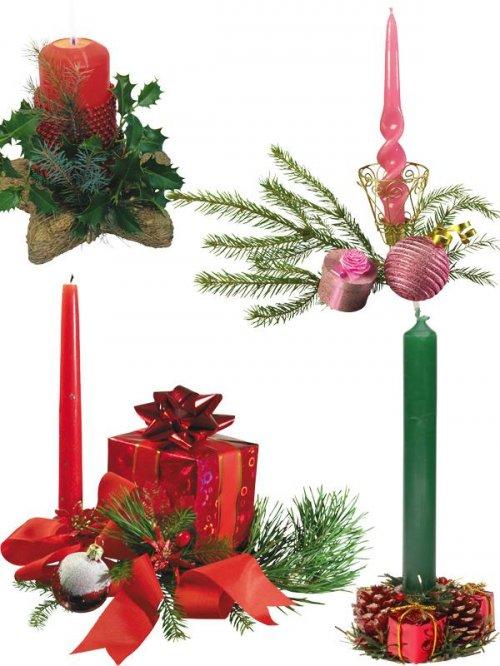 Фотосток: Свечи рождественские