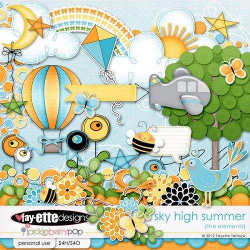 Скрап-набор  Sky High Summer