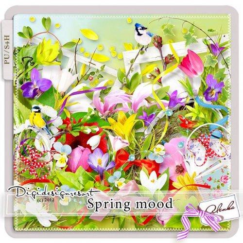 Скрап-набор Spring Mood