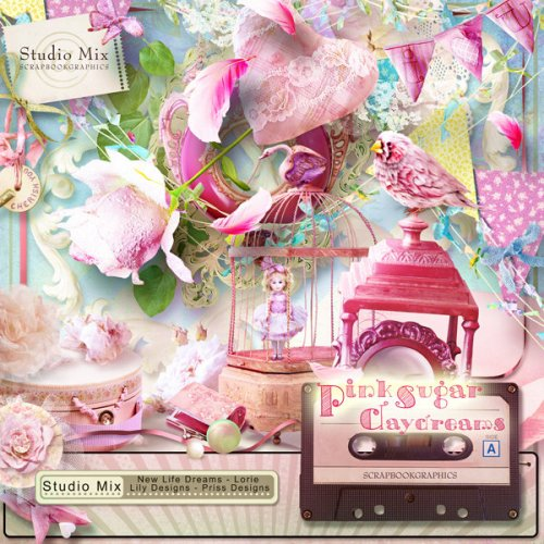 Скрап-набор Pink Sugar Daydream