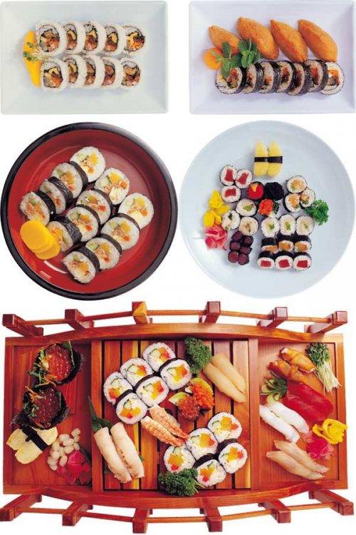 Фотосток: восточная кухня (суши, роллы, сашими и др.)