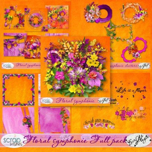 Скрап-набор  Floral Symphonie