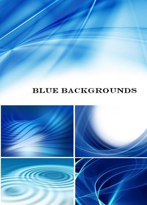 Набор голубых абстрактных фонов