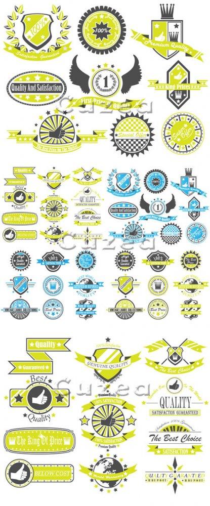 Сборник винтажных стикеров в векторе/ Set of vintage labels in vector