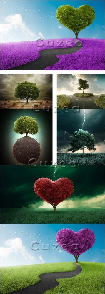 Креативное дерево/ Creative tree - stock photo