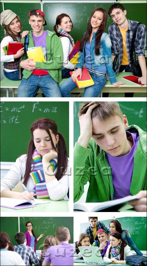 Студенты с книгами/ Students with books - Stock photo
