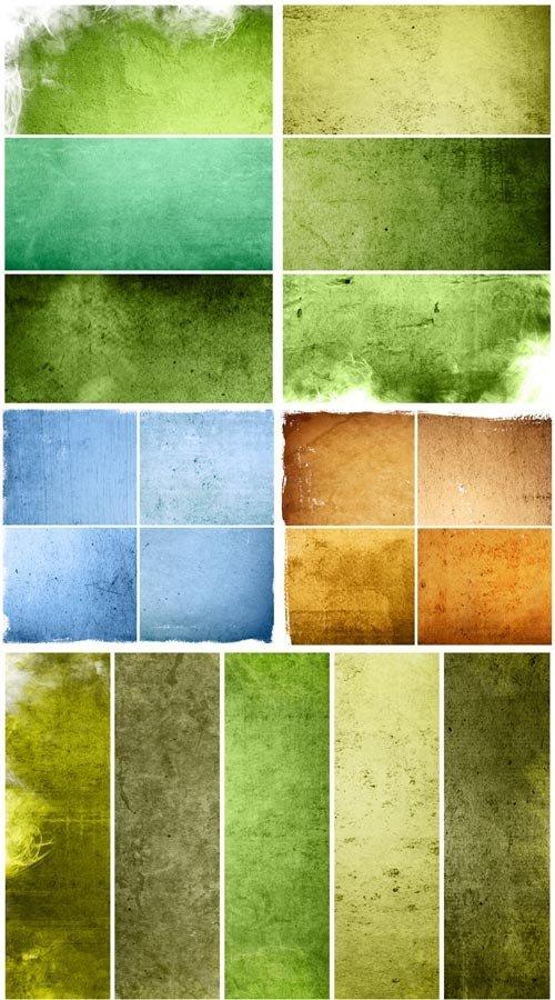 Старые текстуры в зеленых тонах