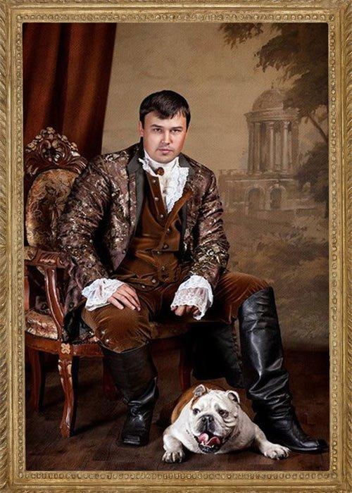 Шаблон мужской  '' Портрет в интеьере''