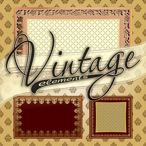 Векторные винтажные элементы для дизайна #2 / Vector vintage elements #2