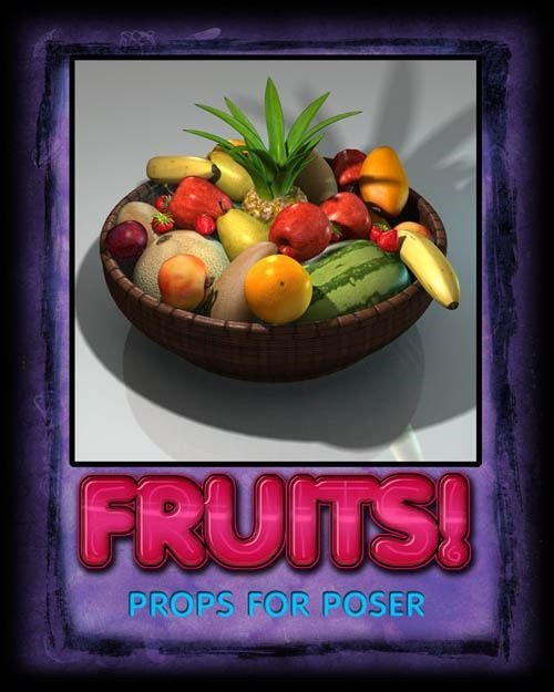 Daz3D Poser Renderosity 87109 Exnem's Fruits