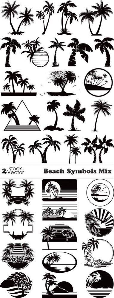 Vectors - Beach Symbols Mix