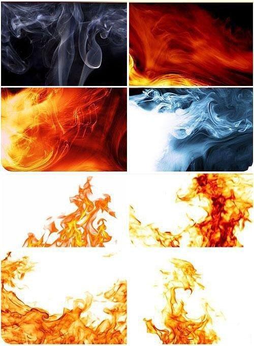 Коллекция фонов дыма и пламени
