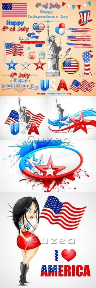 День Независимости США, часть 4/ Independence day of USA, part 4 - vector s ...