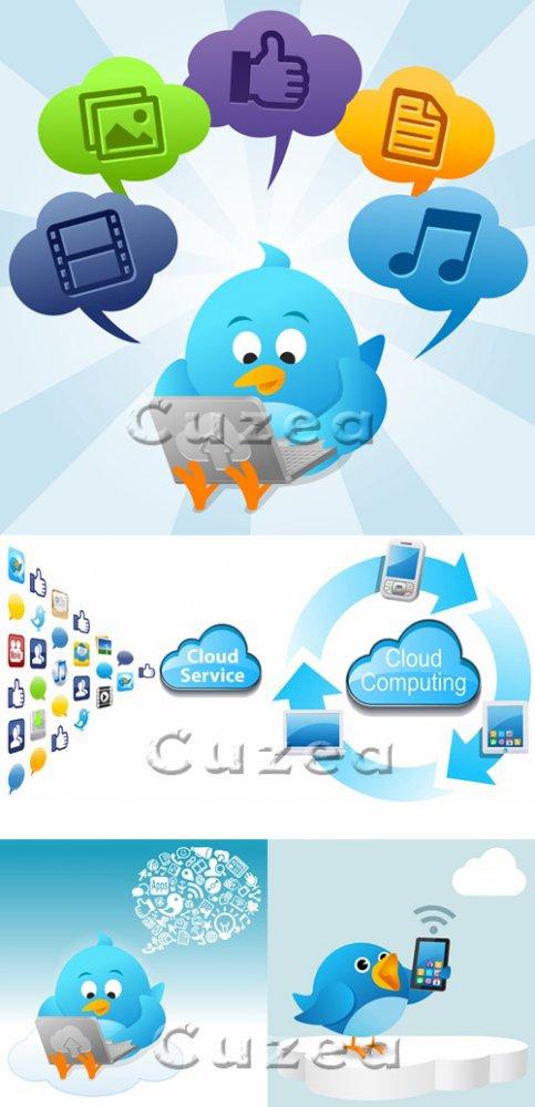 Клипарт технического сервиса/ Cloud service - Stock photo