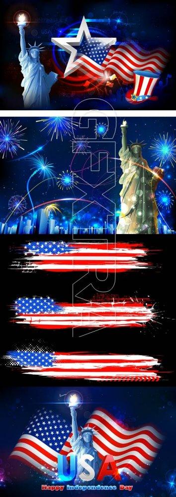 День Независимости США, часть 5/ Independence day of USA, part 5 - vector s ...