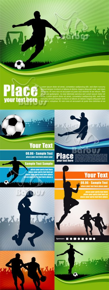 Sports backgrounds / Спорт фоны