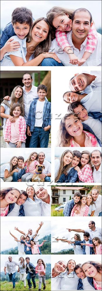 Счастливая семья, часть 3/ Happy family, part 3 - Stock photo