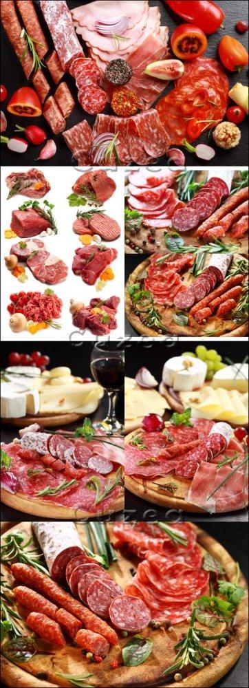 Свежая мясная продукция/ Meat and saleami products - Stock photo