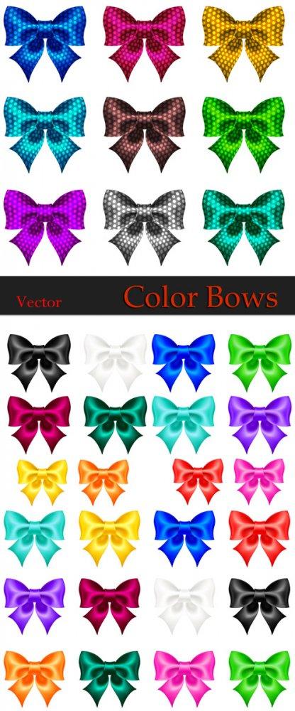 Цветные бантики в Векторе / Vector - Color bows