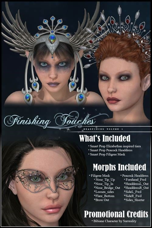 DAZ3D - Poser - Finishing Touches Headpieces Volume 1