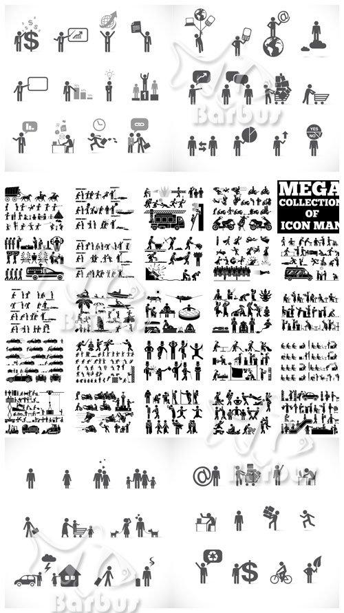 пиктограммы человечков: