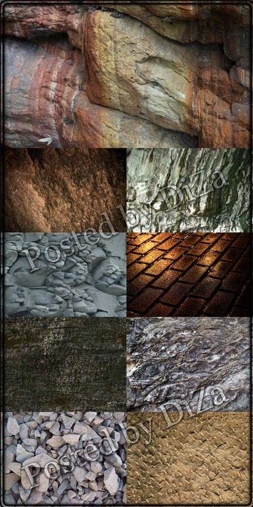Большая коллекция текстур камня