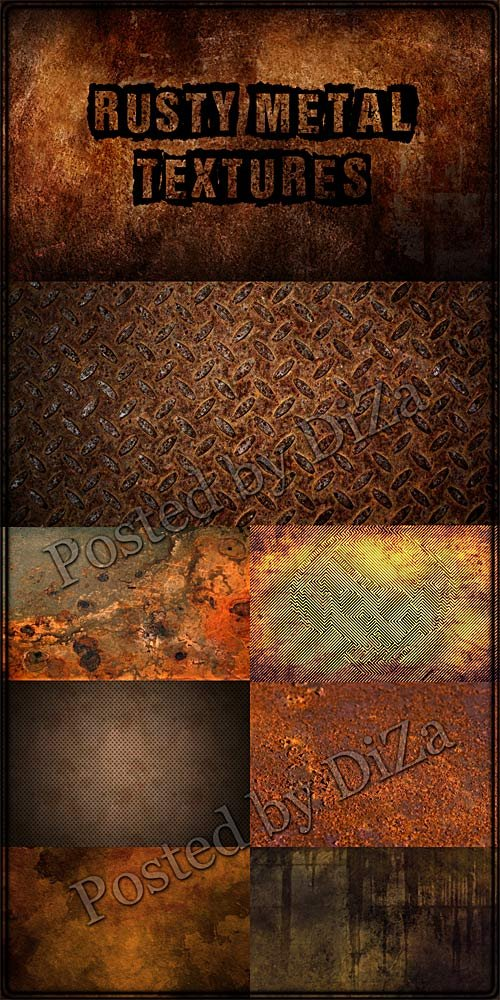 Текстуры ржавого металла