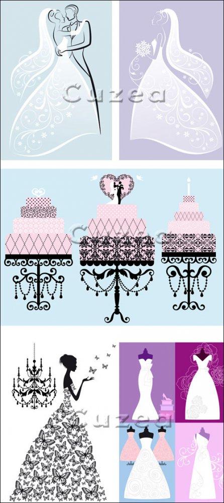 День свадьбы, часть 11 / Wedding day, 11 - vector stock