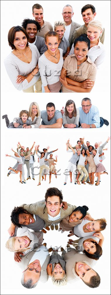 Группа людей на белом фоне, часть 4 / People on white  background, 4 - Stock photo