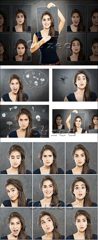 Женские эмоции / Woman emotion - Stock photo